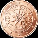 2 cent euro austria stella alpina