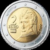 2 euro austria bertha suttner