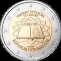 2euro austria commemorativo 50anni trattato roma
