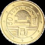 50 cent austria euro belvedere